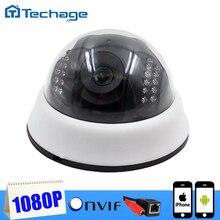 2016 Techage 1080 P Mini CCTV Cámara IP Domo para Interiores 1920*1080 red IR Cut P2P Leva ONVIF Seguridad Para El Hogar de Vigilancia de Vídeo IPC