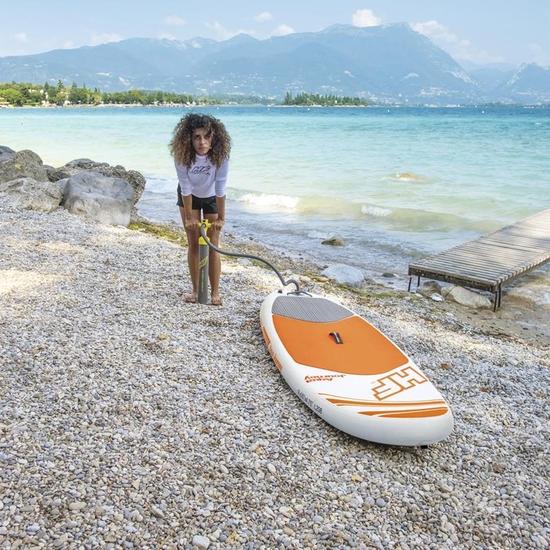 9ft 274 cm Gonflable AQUA Voyage Planche De Surf SUP Hydro-Force Stand Up Paddle Conseils EVA Pont Femmes D'été de L'eau sport