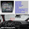 Car Computer Screen Display Projector Refkecting Windshield For  SEAT Leon 1P 5F MK2 MK3 2006 2016 - Safe Driving Screen