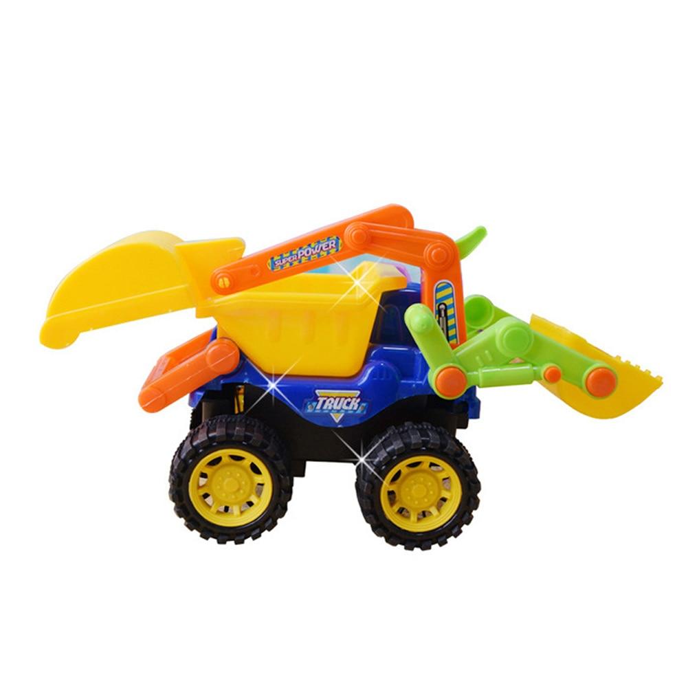 Simulation Excavator Inertia Toys Tracker For Kids Sand Beach Gift Play Bulldozer Dump Children Car Large Engineering Truck