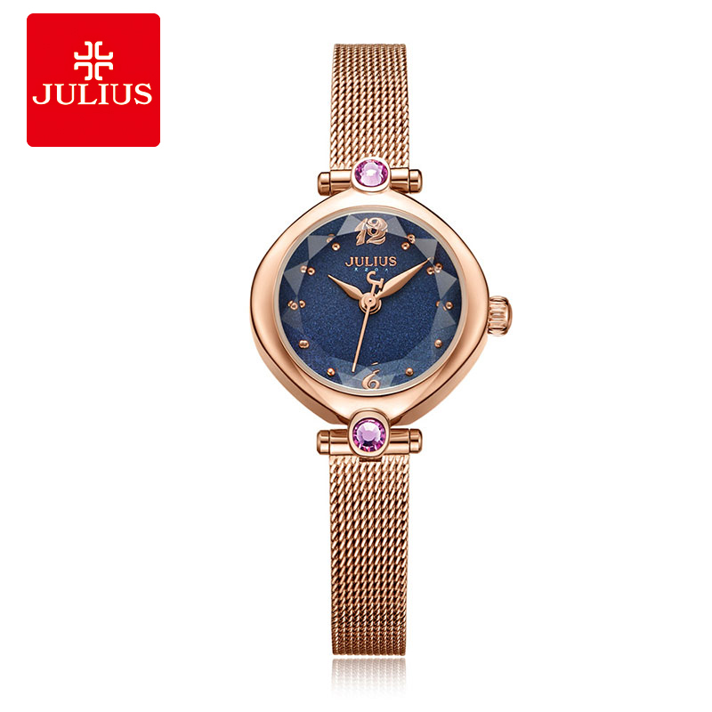 все цены на Julius Female Ladies Watches for Women Luxury Shining Small Dial Rhinestone Stainless Steel Strap Fashion Gift Clock Special