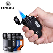 cigar lighter 3 flame windproof portable gift box packaging CB-0504