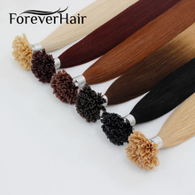 "VOOR ALTIJD HAAR 0.8g / s 16 ""18"" 20 ""24"" Remy Nail U Tip Hair Extensions Straight Pre Bonded Hair On Keratin Capsules Fusion Hair 50s"
