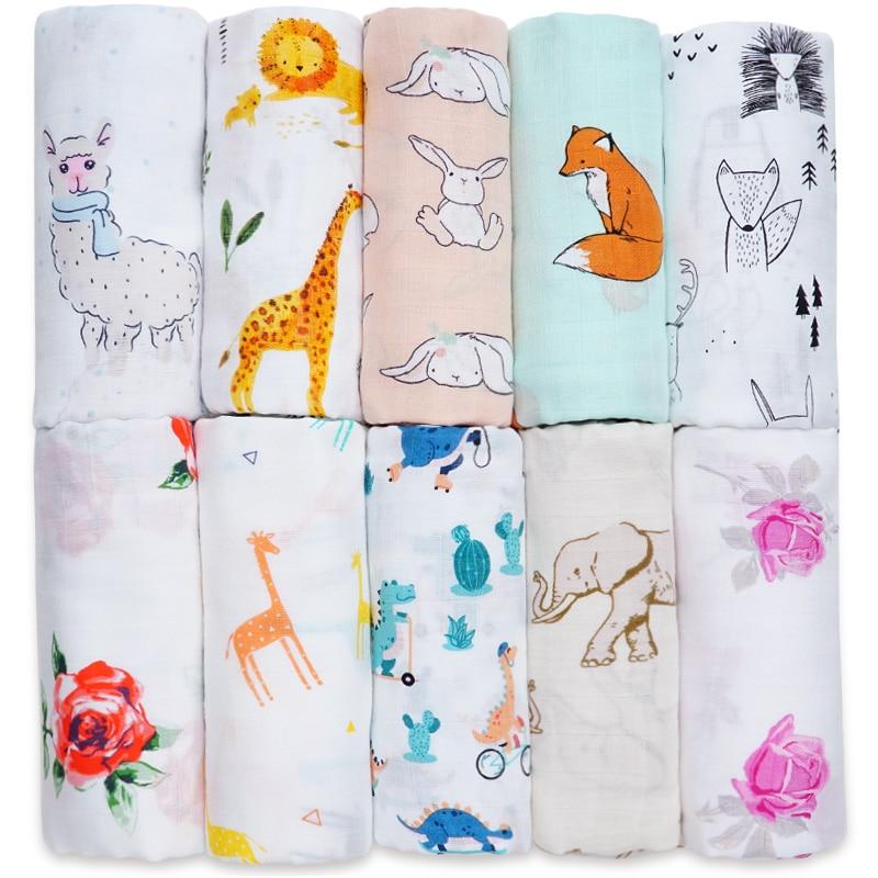 Cotton Bamboo Baby Blanket Soft Muslin Swaddle Wrap Bebe Multi-use Big Diaper Blanket Baby Bath Towel Stroller Kids Accessories