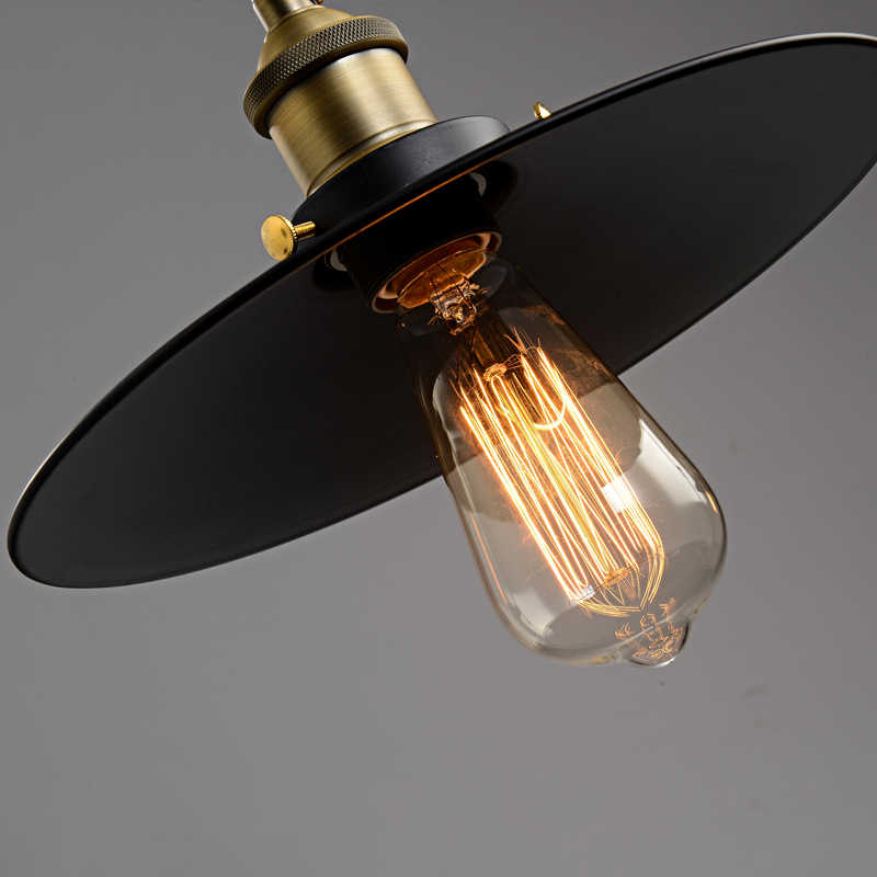 Лофт Винтаж подвесные светильники Железный шкив лампа кухня украшение дома с E27 Эдисона лампы черный окрашенный шкив подвесной светильник