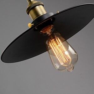 Image 5 - Loft Vintage Hanglampen Ijzer Katrol Lamp Keuken Home Decoratie Met E27 Edison Lamp Zwart Geschilderd Katrol Hanglamp