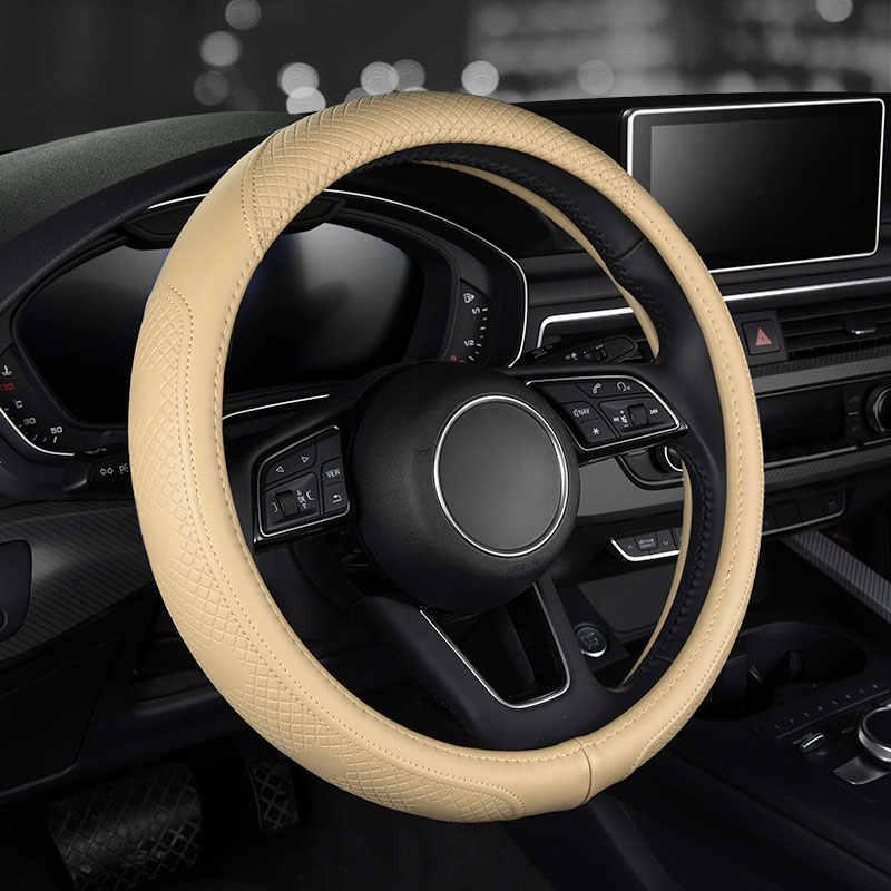 الأزياء السيارة جلد عجلة القيادة يغطي اكسسوارات السيارات ل lada 2107 2110 2114 1 2 largus priora جرانتا kalina الثقاب xray