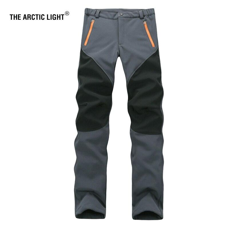 THE ARCTIC LIGHT Outdoor Pants Female Elastic Sweat Hiking Ski Pants To Keep Warm Wind Rain Soft Shell Pants In The Winter Women