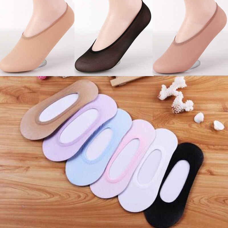 Women Girls Ladies Stretch Footsies Shoe Liner Invisible Slipper Socks 5 Pair UK