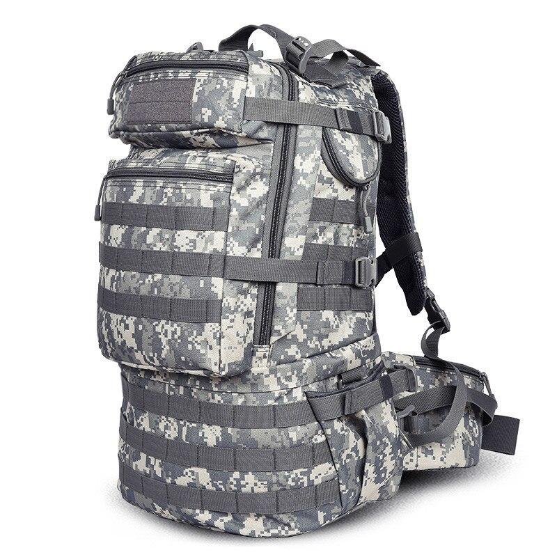 Nowy plecak o dużej pojemności plecak podróży wodoodporna torba kobiet wysokiej klasy 50 L rekreacji torba kamuflaż odpornym przed zniszczeniem torba w Plecaki od Bagaże i torby na  Grupa 2