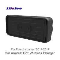 Liislee Voor Porsche caman 2014 ~ 2017 Auto cup frame Autolader Bekerhouder Draadloze Oplader Auto Quick Charge Snelle mobiele Telefoon