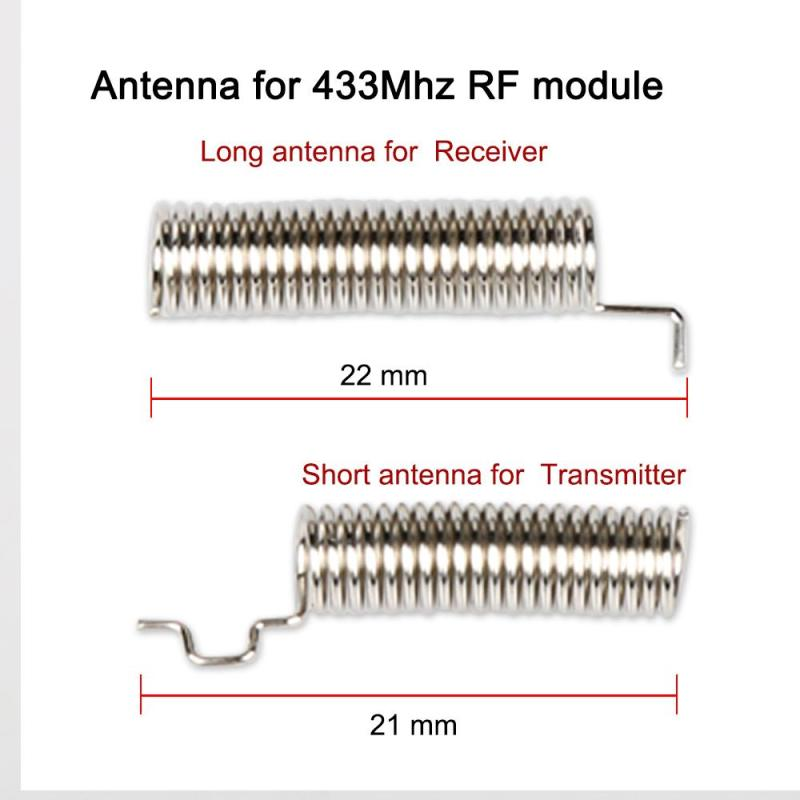 20set 433 mhz Spring Antenna For RF Receiver and transmitter Module 433MHZ Spring Antennas For Wireless Remote Control DIY Kit wavelets technique for antennas