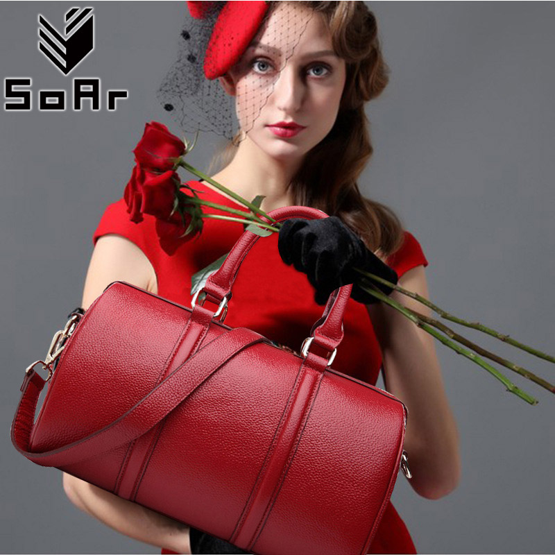 SoAr Genuine Leather Bags Women Crossbody Shoulder Messenger Bags Handbags Women Famous Brand 2018 New Fashion High Quality Tote fashion women bags 100% first layer of cowhide genuine leather women bag messenger crossbody shoulder handbags tote high quality
