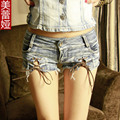 2016 женщин летняя женщина джинсовые бурлящие штаны женские сексуальные джинсы попа шорты леди горячие топы femme разорвал микро мини шорты