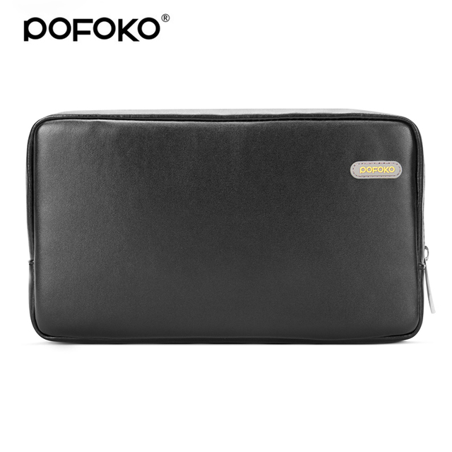 POFOKO waterproof high quality PU leather 2.5 hard drive case cosmetic bag sports camera power bank protective bag