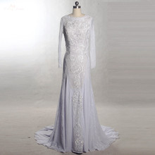 Yiaibridal Backless Long Sleeves Wedding Dress Beach