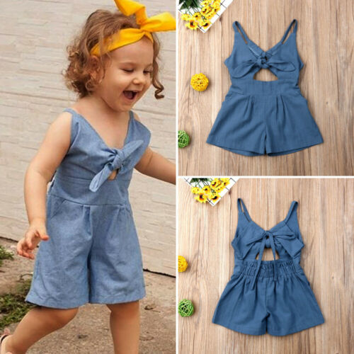 Fashion Kid Baby Girl Dresses Sleeveless Floral One-Piece Dress Strappy Summer Dress Bowknot