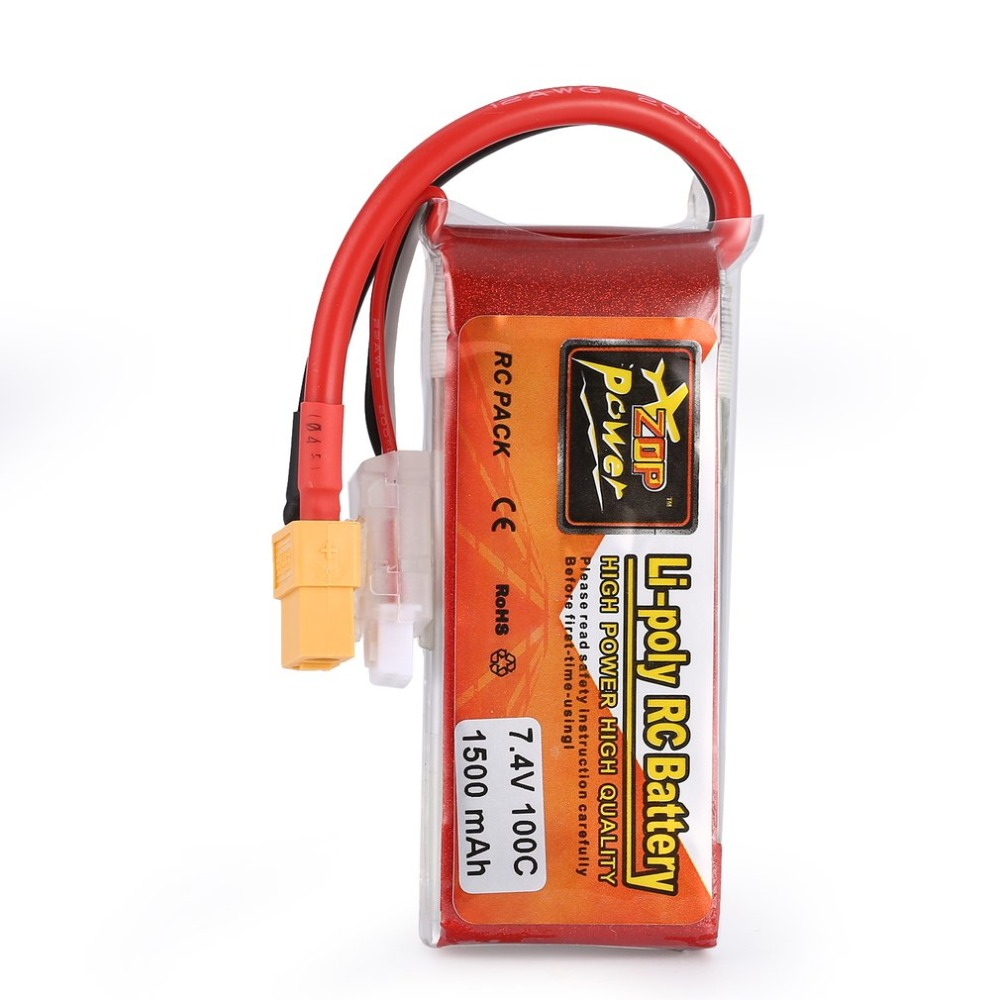 ZOP Power 7.4V 1500mAh 2S 20C Lipo Battery XT60 Plug