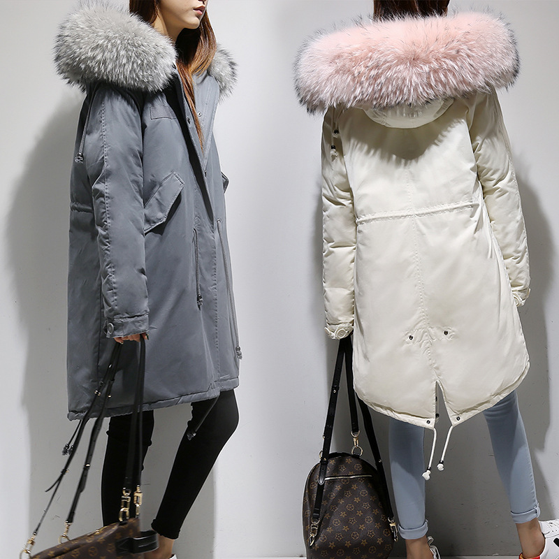 Thickened Women Down Coat Women Down Winter Down Jacket Women Long Women Hooded Warm Coat Fur Collar Winter Coat Brand Clothing