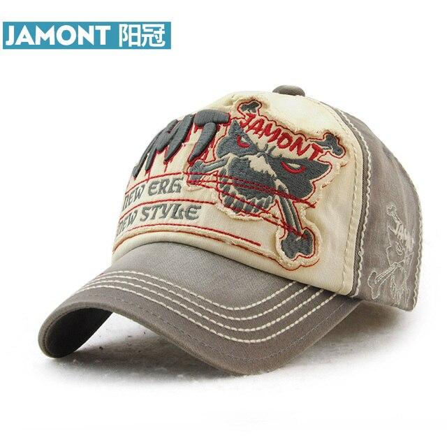 JAMONT  Branded Baseball Cap Men s Women s Cotton Snapback Hat Hip Hop  Skeleton Skull Styling Bone Fashion Caps Casquette d6020f3884a8