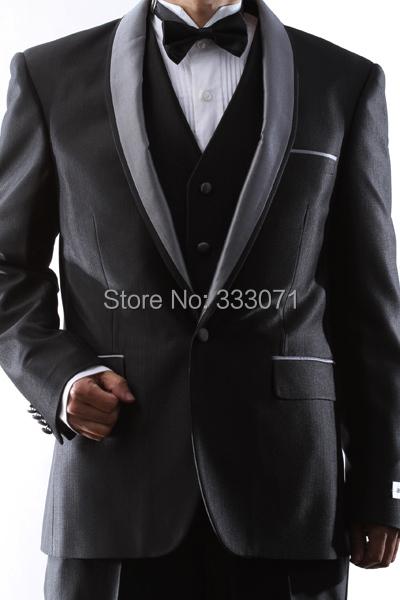 High Quality 2014 New One Button Luxury Brand men dress Suit Groomsmen Coat Pants Wedding Formal Best Man Groom Tuxedos