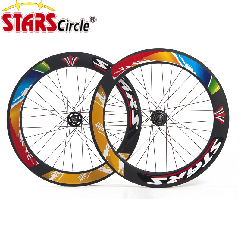 STARS Road Bike Single Speed Fixed Gear Fixie Track Wheels Wheelsets 700C 70mm speed gear в луганске