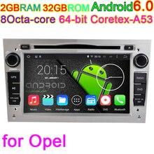 Últimas Núcleo Octa 6.0.1 Android Vehículo Estéreo PC GPS para Opel Astra Corsa Meriva Antara Vivaro Zafira Vectra Cd DVD Del Coche jugador