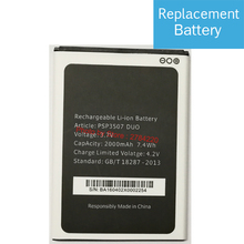 Hot 3.7V Replacement PSP3507 DUO Battery For Prestigio Wize N3 PSP3507DUO PSP 3507 Baterij Batterie Mobile Phone Batteries