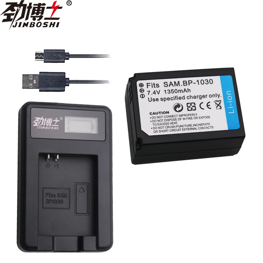 1pcs BP1030 BP-1030 BP1130 Battery + USB <font><b>Charger</b></font> for <font><b>Samsung</b></font> <font><b>NX1000</b></font> NX1100 NX200 NX2000 NX210 NX300M NX300 NX310 NX500 Camera image