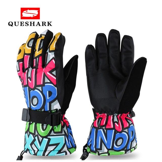 Зимние лыжные перчатки Для мужчин Для женщин сноуборд перчатки теплые варежки Водонепроницаемый детей Велоспорт восхождение Лыжный Спорт Перчатки