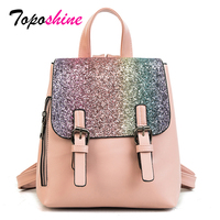 New Spring Korean Version Hit Color Large Bag Female Simple Wild College Wind Backpack Leisure Fashion