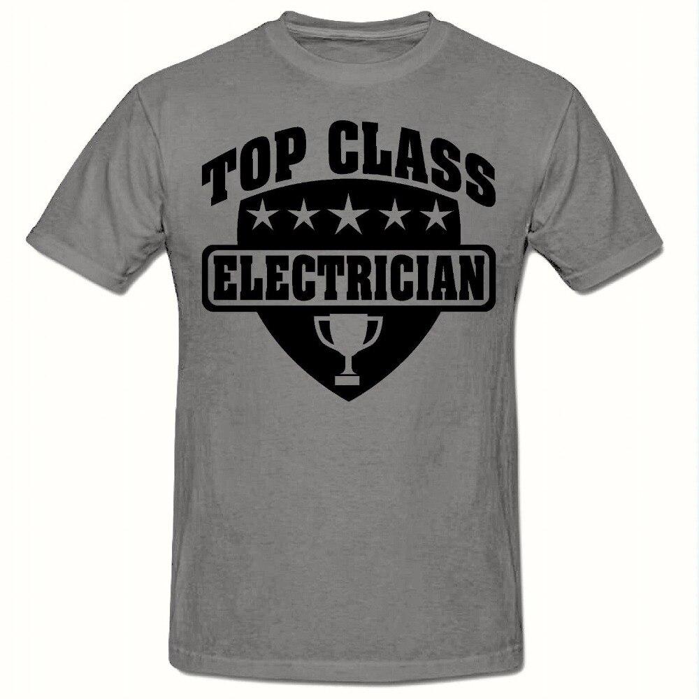 New Unisex T Shirt Summer Cool Tees Top Stop Class Electrician T