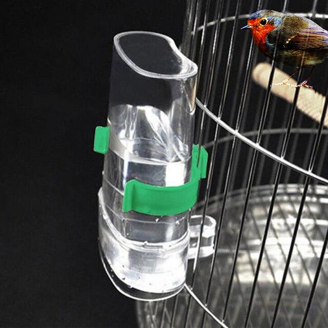 Propre nouveau peut stocker leau mangeoire pour oiseaux alimentation alimentaire automatique buveur perroquet distributeur pour animaux de compagnie Cage pince Sparrow Cage à oiseaux fontaine