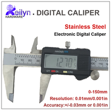 Best price Vernier caliper Stainless steel Electronic Digital caliper  0-150mm  Resomution 0.01mm measuring instrument