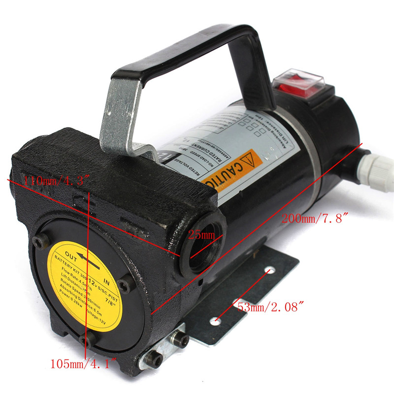 Hot Sale 12V Portable Fuel For Diesel Pump Oil Transfer Pump Self Priming Set 45L/Min 200W Best Price