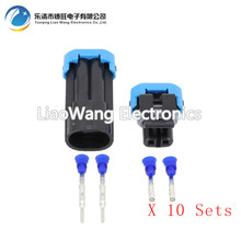 10 Sets 2 Pin Outdoor Temperature Sensor Plugs Automotive Connectors Waterproof DJ7024-1.5-11 / 21