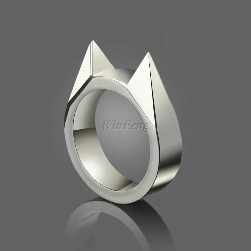 Men Self Defense Ring Outdoor EDC Tactical Defence Tool Stainless Steel Defensa Personal Weapon Finger Rings For Women