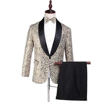 Men's suit new best selling corduroy single button men's suit two-piece suit (jacket + pants) men's formal banquet dress