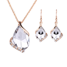 Earings Fashion Jewelry Sets for Women Wedding Party Bridal Necklace Luxury Crystal Nigerian Jewellery Costume Dubai Jewelry Set