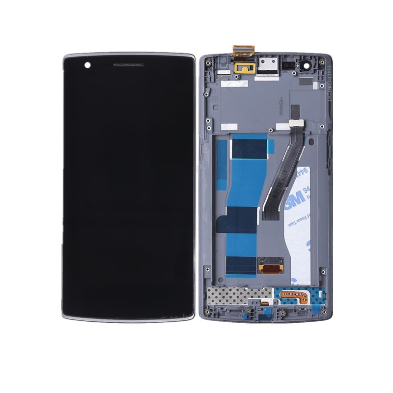 High Quality LCD Display With Touch Screen Digitizer Assembly For Oneplus One Plus 1+ A0001 With Frame(China)