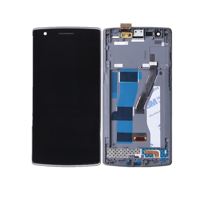Alta qualidade display LCD com tela de toque digitador assembléia Para Oneplus One Plus 1 + A0001 com Quadro