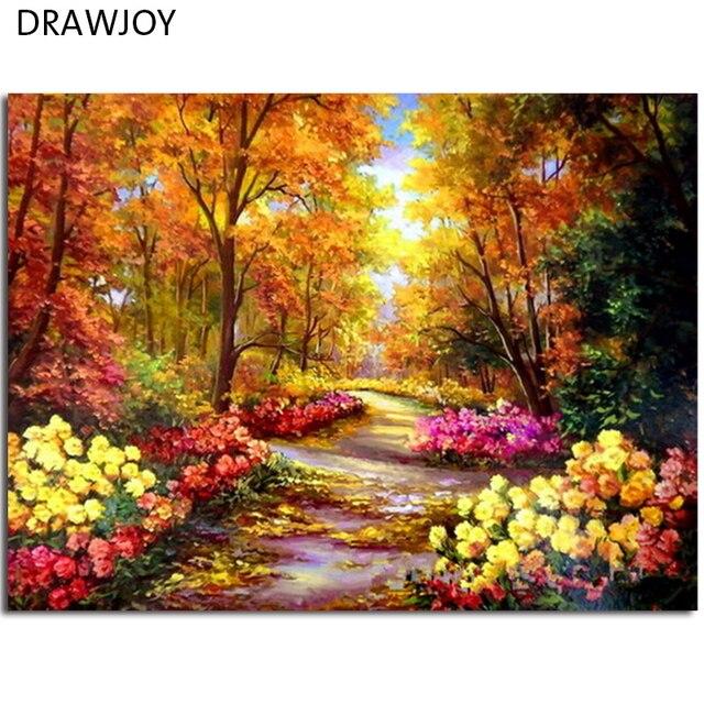 DRAWJOY Gerahmte Bilder Malerei & Kalligraphie DIY Acryl ...