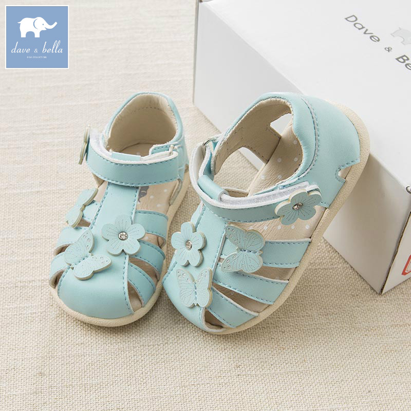 DB6992 Dave Bella spring summer baby girl sandal Princess Shoes brand shoes db6743 dave bella spring summer baby girl canvas shoes floral casual shoes
