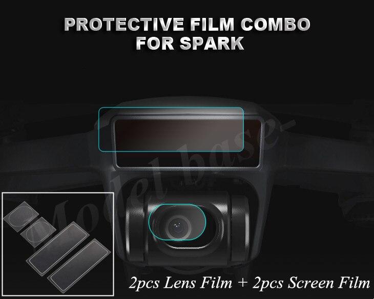 4pcs set Camera Lens Protective Film Drone Body Screen Film Flexible Fiberglass Film Set Membrane for