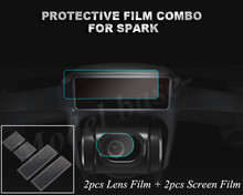 4 шт./компл. Объективы для фотоаппаратов защитный Плёнки Drone Средства ухода за кожей Экран Плёнки стеклопластиковые гибкие Плёнки набор мембраны для DJI Spark