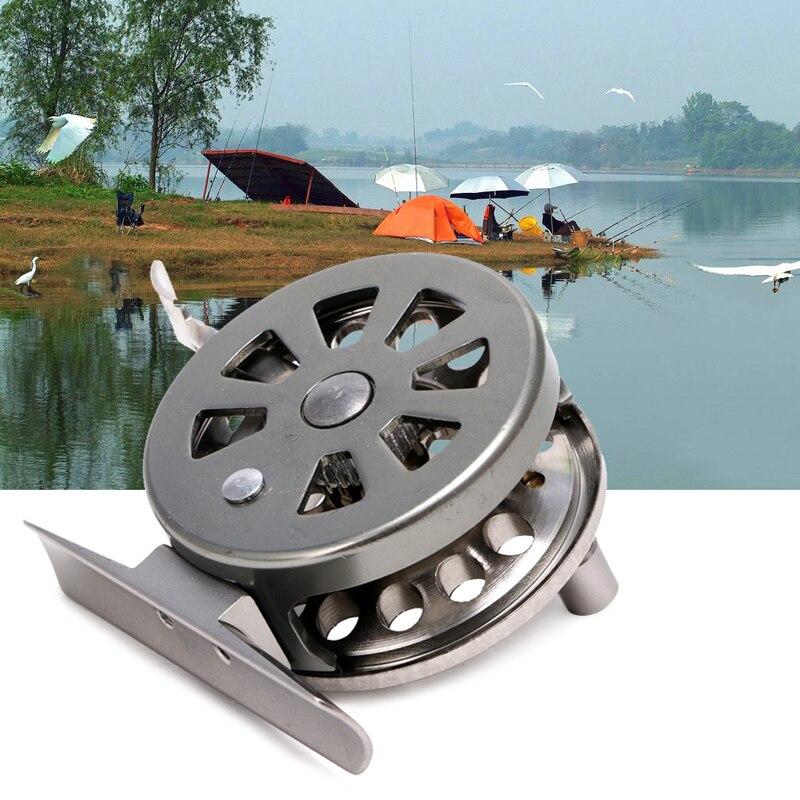 Image 2 - New Fishing Metal Coils Centrifugal Drop Round Aluminum Alloy Bearings Fly Fishing Wheel CoilFishing Reels   -