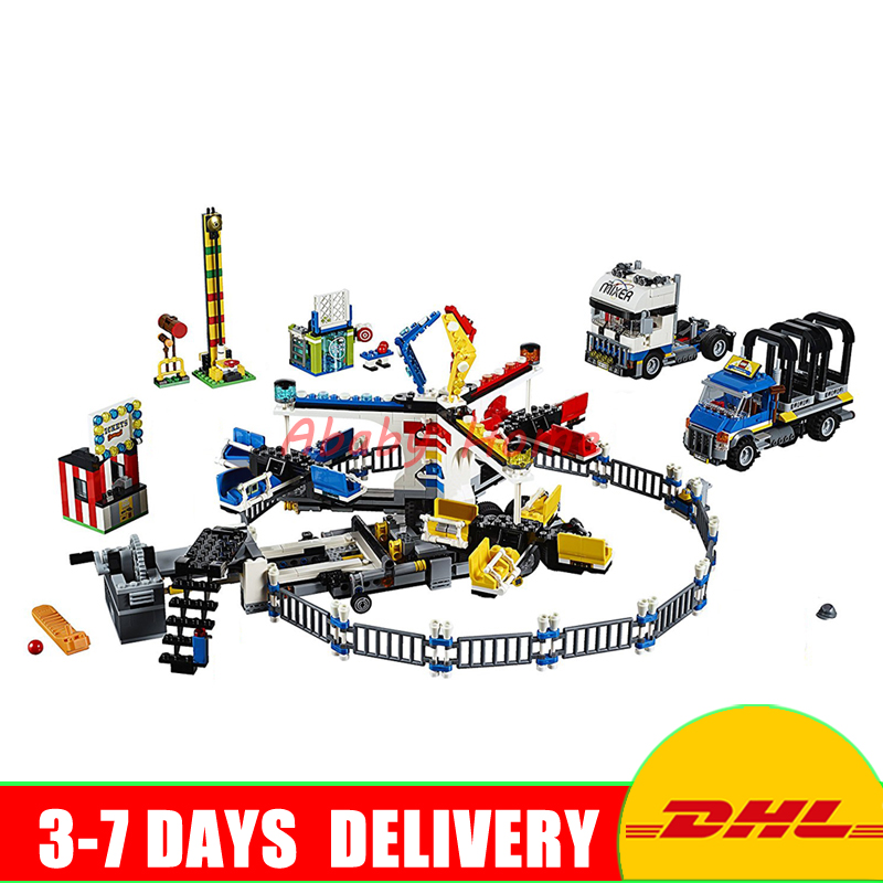 Lepin 15014 1858pcs Amusement park The carnival Model Building Blocks Set Compatible 10244 Architecture DIY toys gifts