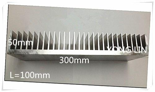 1pcs Aluminum/Aluminum radiator/Heatsink High-power heat sink Aluminum Radiator 100*300*50white customize synthetic graphite cooling film paste 300mm 300mm 0 025mm high thermal conductivity heat sink flat cpu phone led memory router