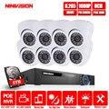 8CH 5MP POE 48V Real NVR kit 1080P HD Vandalproof Dome camera 2MP POE IP Camera IR 30M POE CCTV Camera System Plug and Play