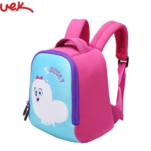 5ba03de3078d UEK Cartoon kindergarten children s School Bag 1-3 Years Old Korean Cute  Shoulder Bag Pink Poodle Pattern Fashion SimpleA3646